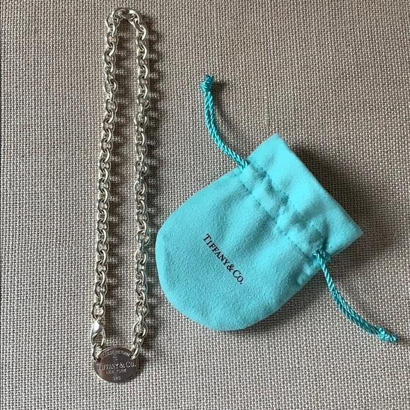 158f929f6 Tiffany & Co. Oval Tag Sterling Choker Necklace. M_5c963f412beb796d24b9aca7